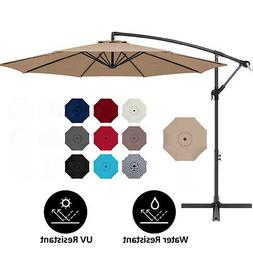 10 ft hanging umbrella patio sun shade