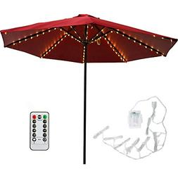 Patio LED Umbrella String Lights with Remote Control Umbrell