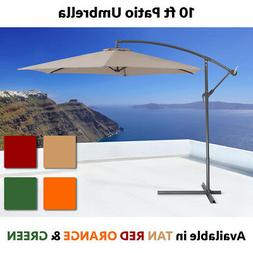 10FT Hanging Patio Umbrella Sun Shade Offset Outdoor Yard Ma