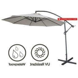 Abba Patio 10Ft Offset Hanging Patio Umbrella With Cross Bas