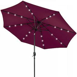 Best Choice Products 10ft Solar LED Patio Umbrella w  USB Ch