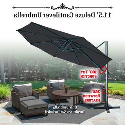 11.5' Deluxe OffSet Hanging Roma Cantilever Patio Umbrella S