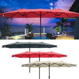 15ft patio twin umbrella double sided market