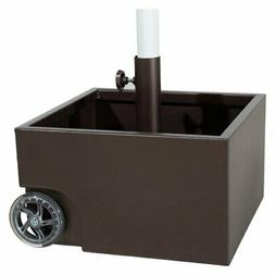 Abba Patio 30-lb. Stainless Steel Square Planter Box Umbrell