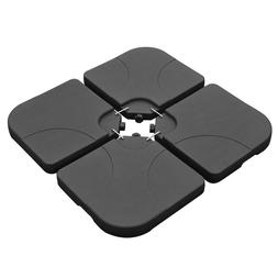 4-Piece Patio Umbrella Base Stand Cantilever Offset Weighted