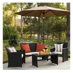 Best Choice Products 4 Piece Wicker Patio Furniture Set Outd
