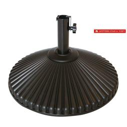 Abba Patio 50 Lbs Round Patio Base Recyclable Plastic 23.4 I