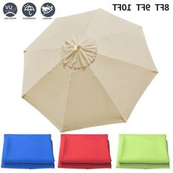 8/9/10ft Patio Umbrella Replacement Canopy Market Beach Oxfo