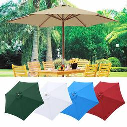 8' 9' 13' Outdoor Patio Wood Umbrella Wooden Pole Market Bea
