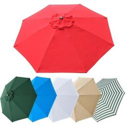 Patio Umbrella Canopy Replacement Top Cover ONLY fit 8' 8 Ri