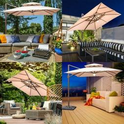 Abba Patio 9 by 12-Feet Cantilever Solar Lights 9' 12' with