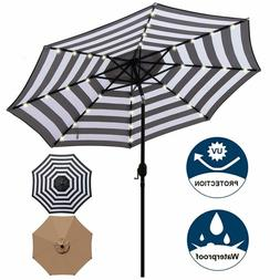 Blissun 9 Ft Solar Umbrella 32 Led Lighted Patio Umbrella Ta