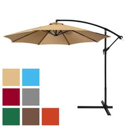 BCP 10ft Offset Hanging Market Patio Umbrella w/ Easy Tilt A