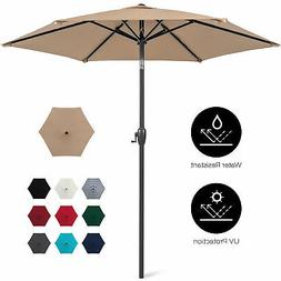 BCP 7.5ft Outdoor Market Patio Umbrella w/ Push Button Tilt,