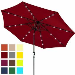 Best Choice Products 10ft Solar LED Lighted Patio Umbrella w