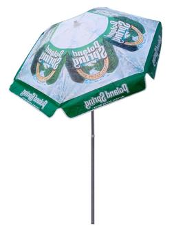 BRAND NEW 6 ft Patio Market Umbrella with Poland Spring Wate