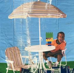 Children's Outdoor Patio Set - Table, 2 Chairs and umbrella