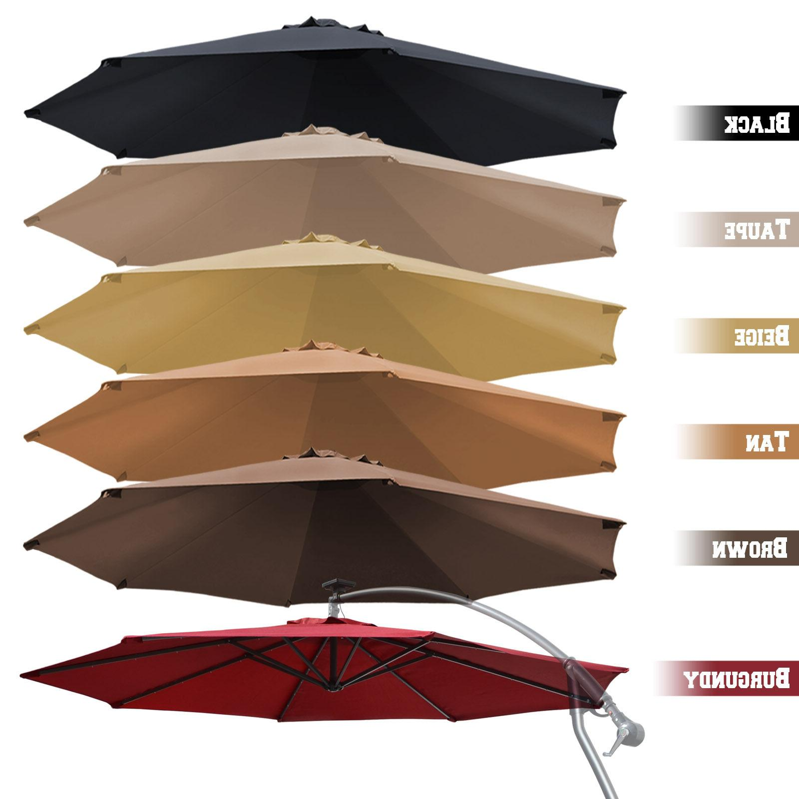 10 cantilever patio offset umbrella replacement canopy