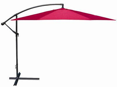 10' Patio Sun Shade Hanging Umbrella Canopy Outdoor