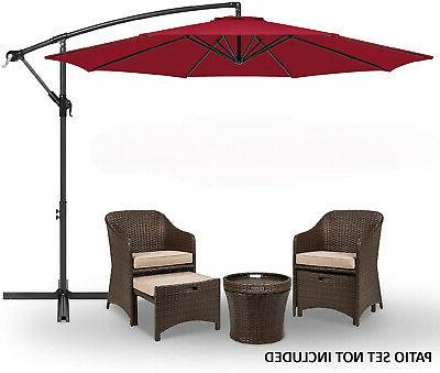 10 patio sun shade hanging umbrella offset