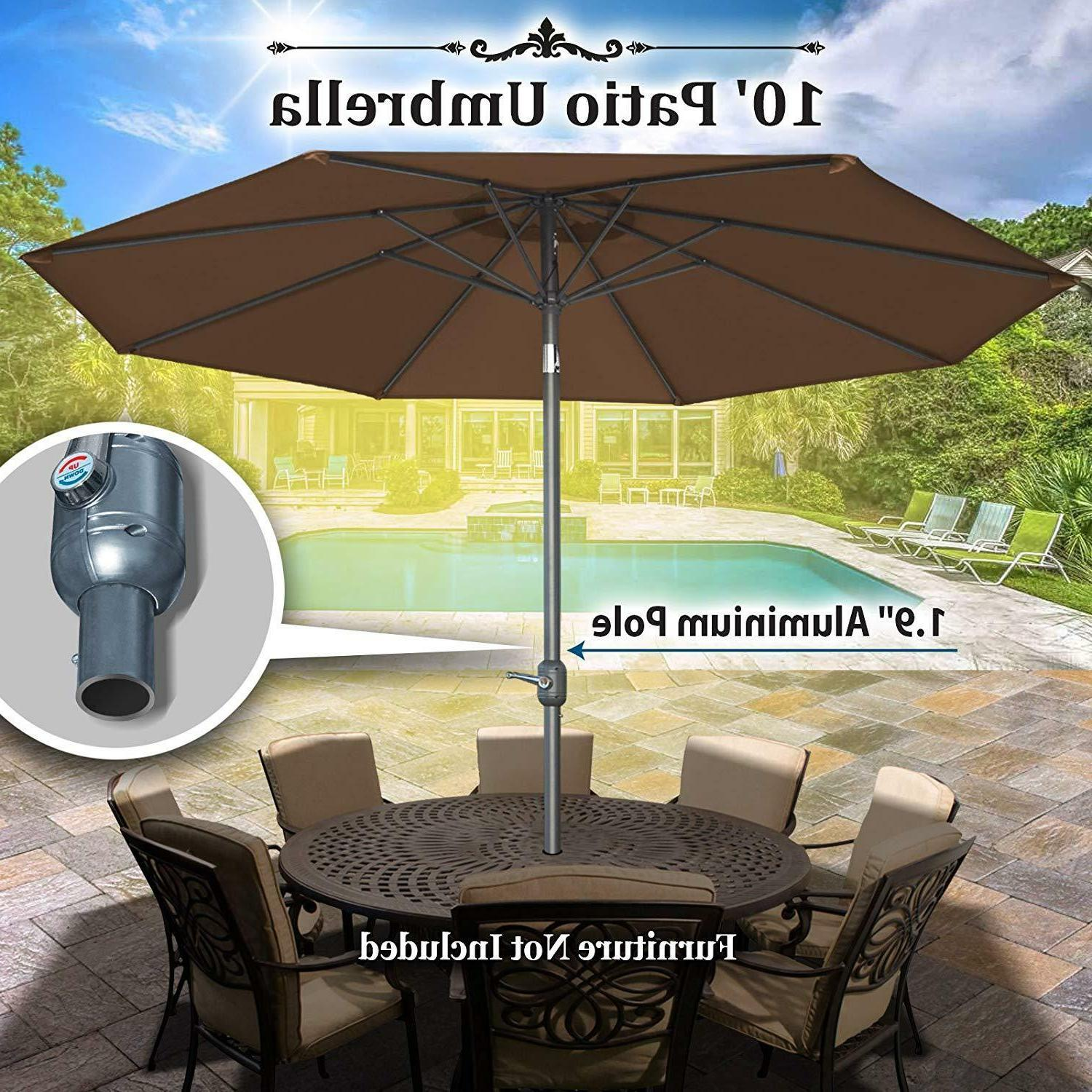 10' Ribs Garden Sunshade with and Crank