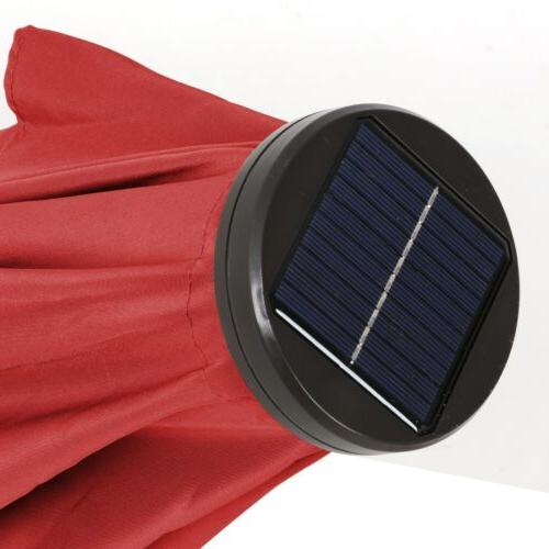 10ft Solar LED Lighted Patio with Push Crank