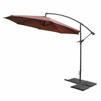 10ft Patio Off Set Hanging Canopy Deck