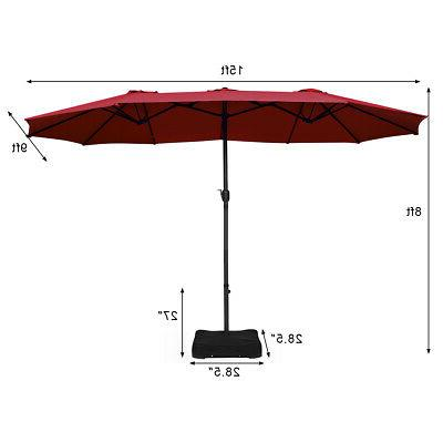 15 Patio Double Sided Outdoor Large Umbrella
