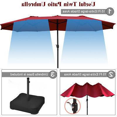 15 Patio Double Sided Outdoor Large