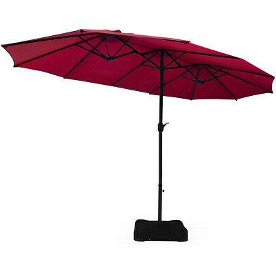 15 ft patio double sided umbrella outdoor