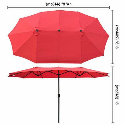 Double-sided Market Garden Parasol