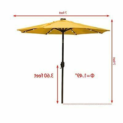 7 ft Solar 24 LED Umbrella Table with