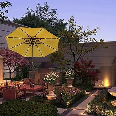 7 ft Solar Umbrella Table with