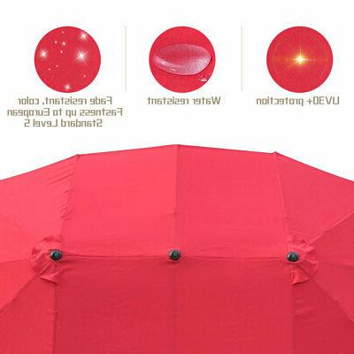 15ft Patio Double-sided Garden Parasol