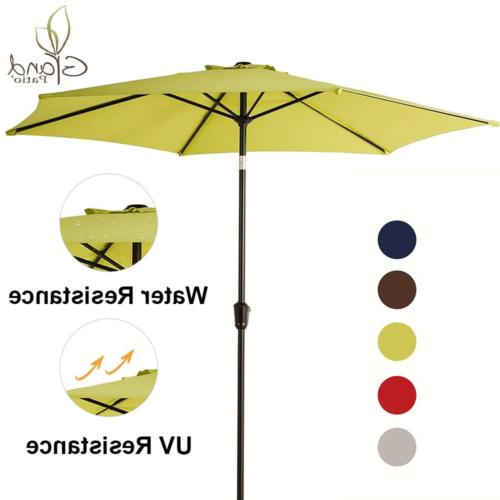 Grand Patio 9 FT Aluminum Patio Umbrella, UV Protected Outdo
