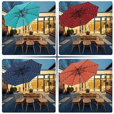 9 ft solar powered led lighted patio