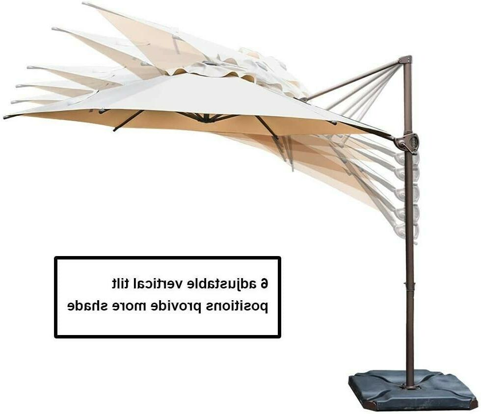 Abba Patio 9ft Patio Offset Hanging Outdoor Cantilever
