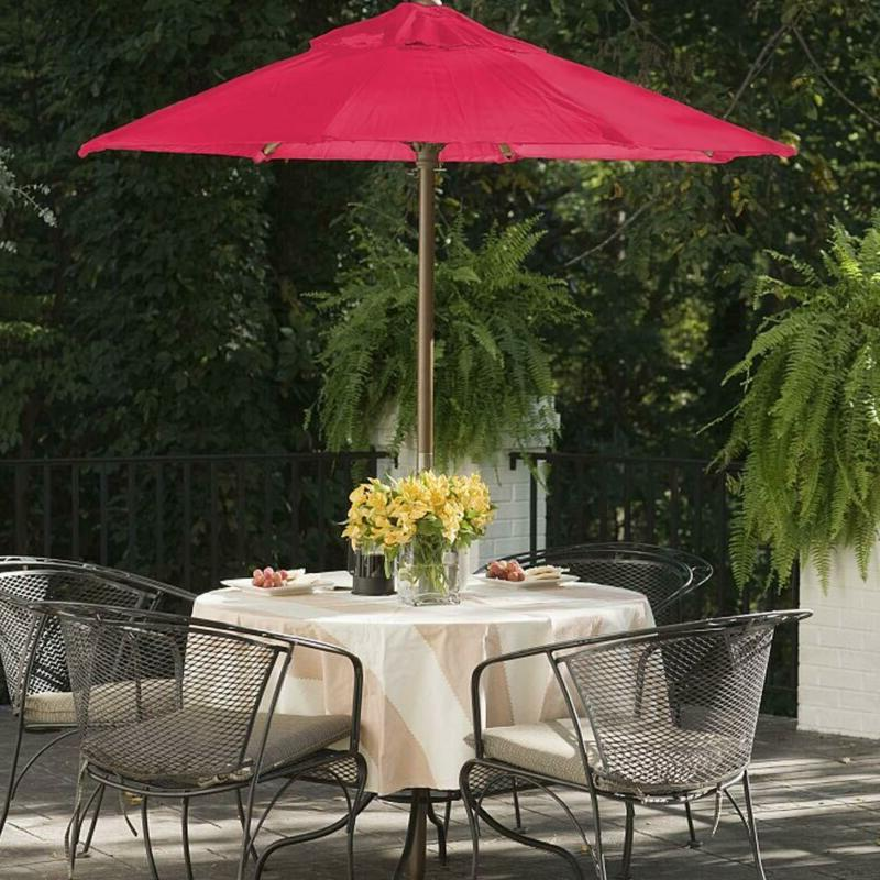 Eliteshade 9Ft Market Umbrella Canopy (Burgun