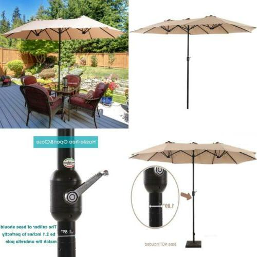Extra Large Outdoor Patio Umbrella Double Sided Design Shade