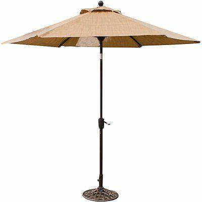 Hanover Aluminum Piece Patio with Umbrella and Stand