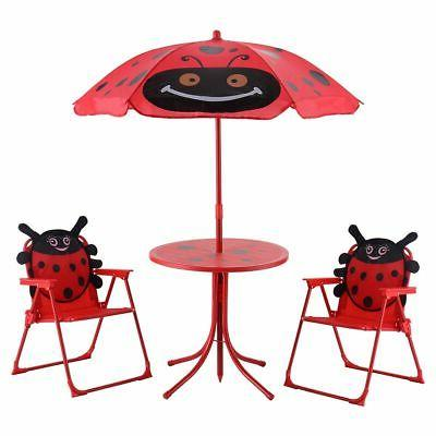 kids patio folding table and chairs set