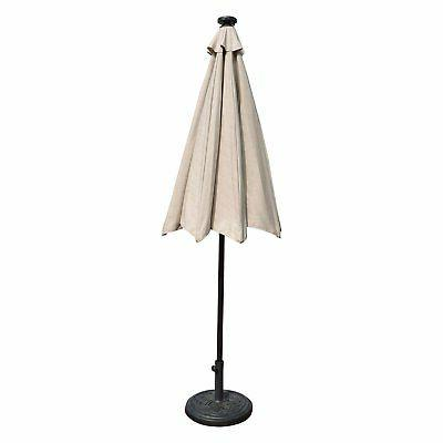 Island 9 ft. LED Patio Umbrella