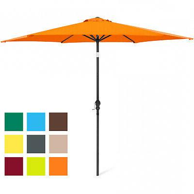 New Umbrella w/ Crank and Easy Push Button Many Colors