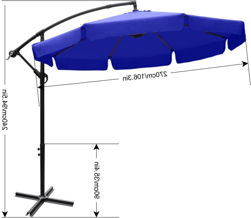 Abccanopy Outdoor Cantilever Offset Ft
