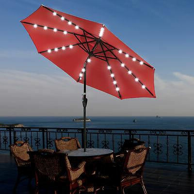 patio solar powered aluminium umbrella