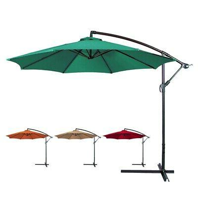 patio sunshade offset 10 hanging umbrella w