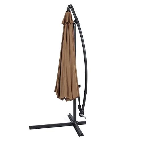Belleze Patio Ft Offset Outdoor Hanging and Base,
