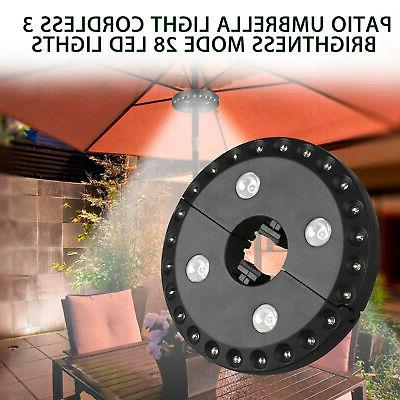 Patio Umbrella with Cordless Lights