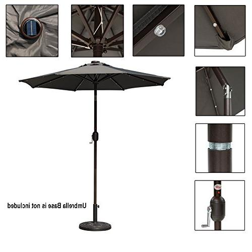 Sundale 7 Solar Powered Lighted Patio Market and for Pool, Polyester