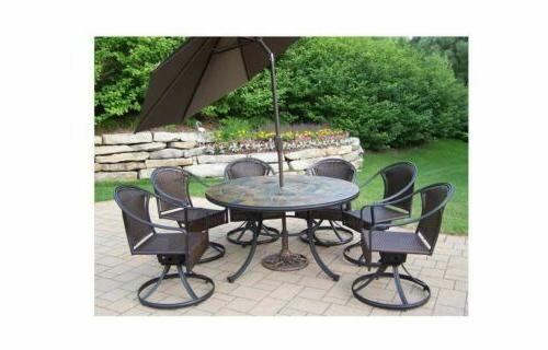 Art Dining Set with Umbrella Color